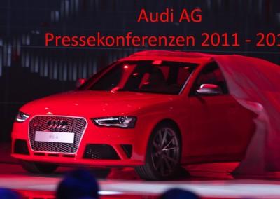 AUDI AG – Pressekonferenzen 2011-2013