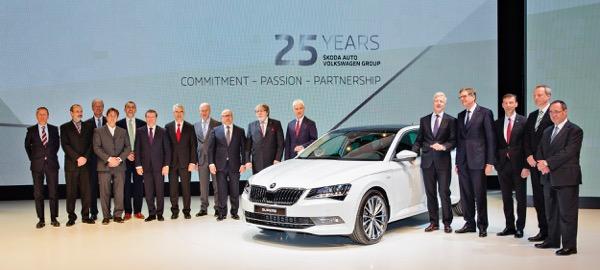 25YEARS Škoda Auto at Volkswagen Group