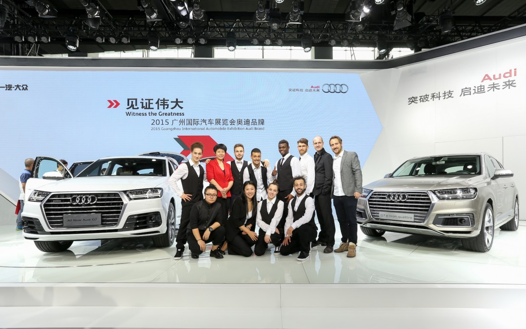AUDI Press conference at Guangzhou Motor Show 2015