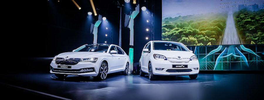 ŠKODA presents e-mobility sub-brand iV as well as CITIGOe iV and SUPERB iV