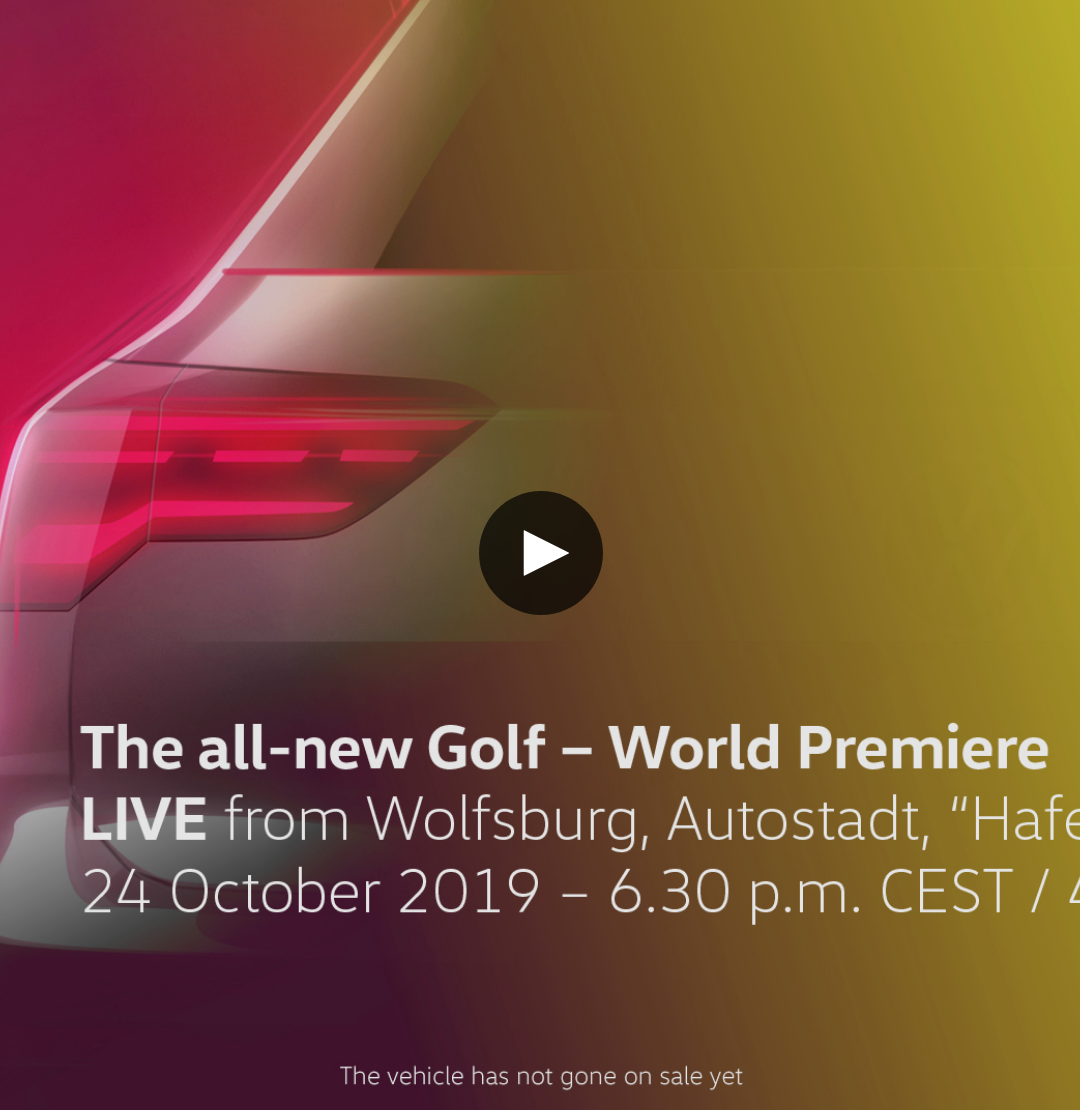 World premiere of the all-new Golf